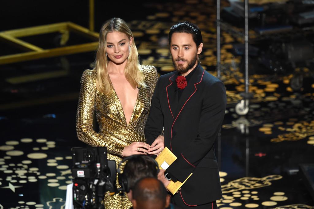 Oscar 2016: Jared Leto e Margot Robbie sul palco