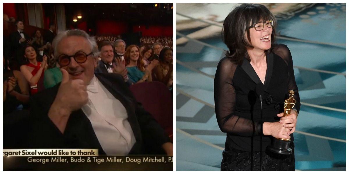 Oscar 2016: il bellissimo momento della premiazione di Margaret Sixel per il montaggio di Mad Max: Fury Road