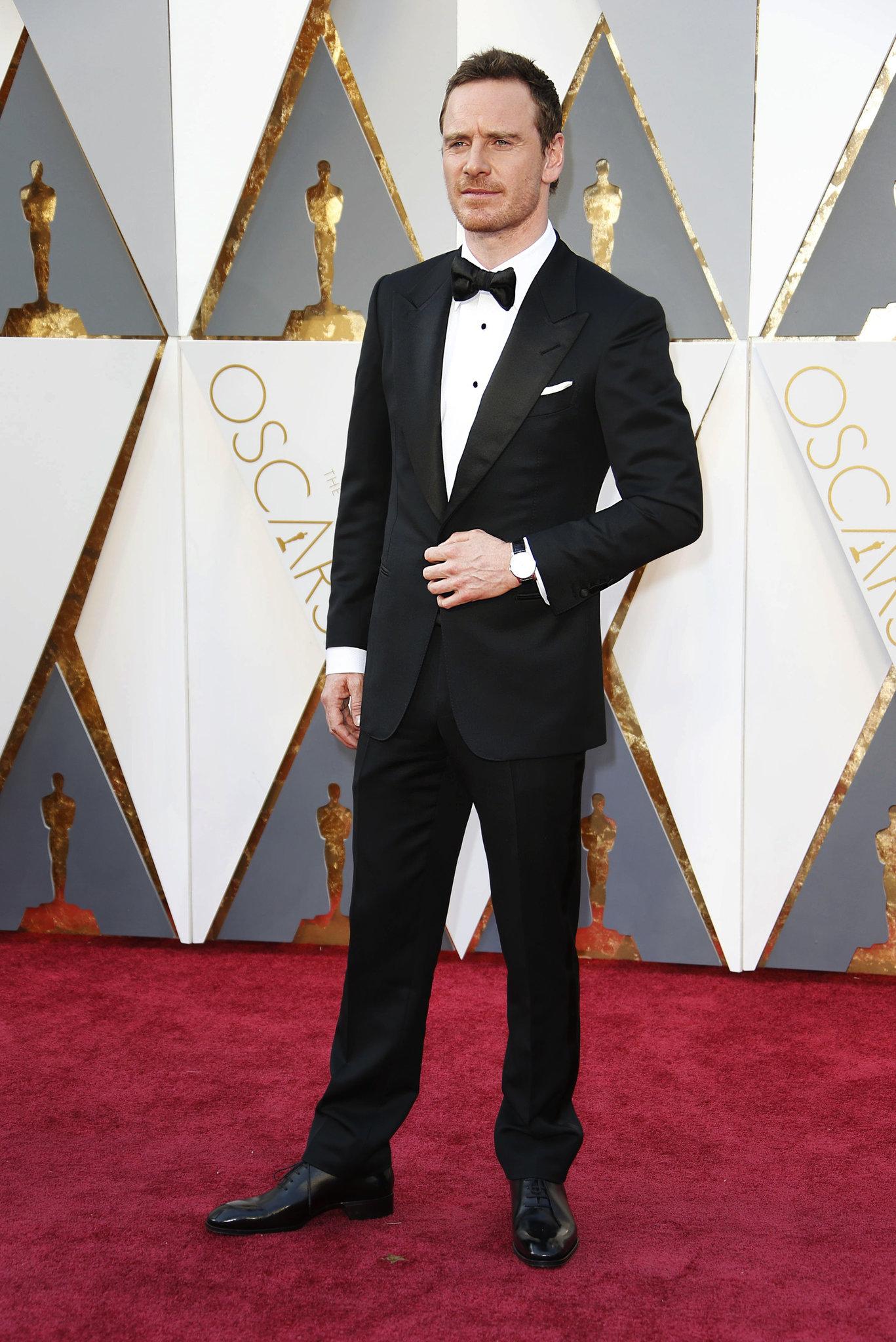 Oscar 2016: Michael Fassbender sul red carpet