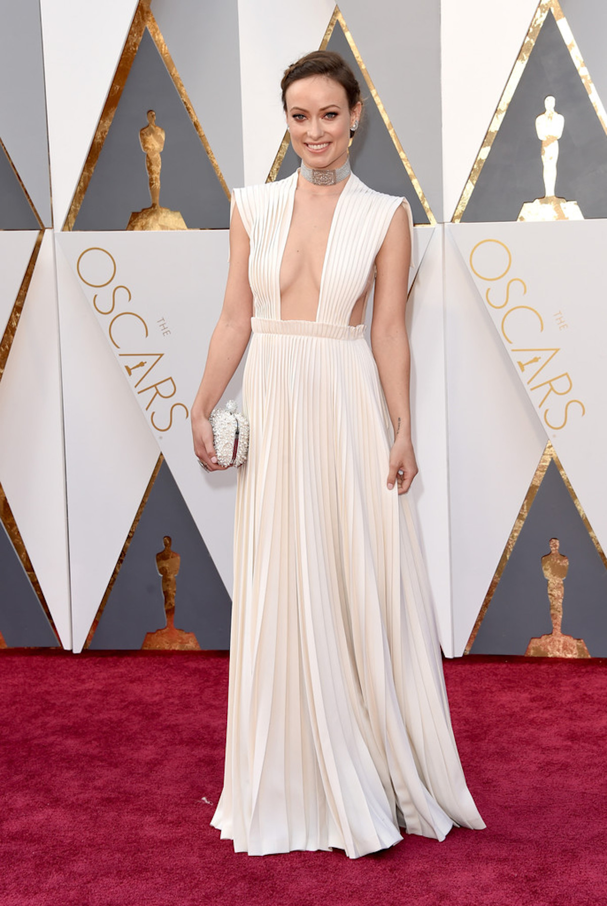 Oscar 2016: Olivia Wilde sul red carpet