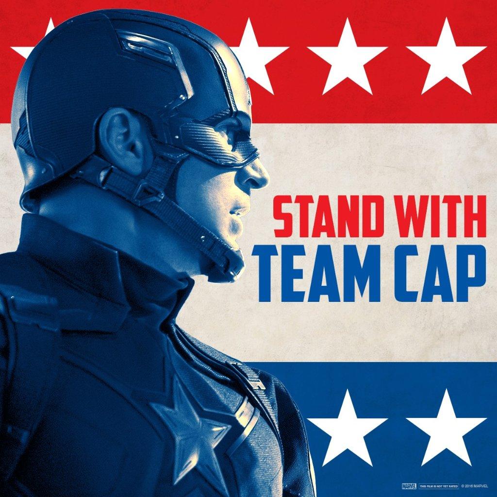 Captain America: Civil War - L'immagine per il team a favore di Captain America