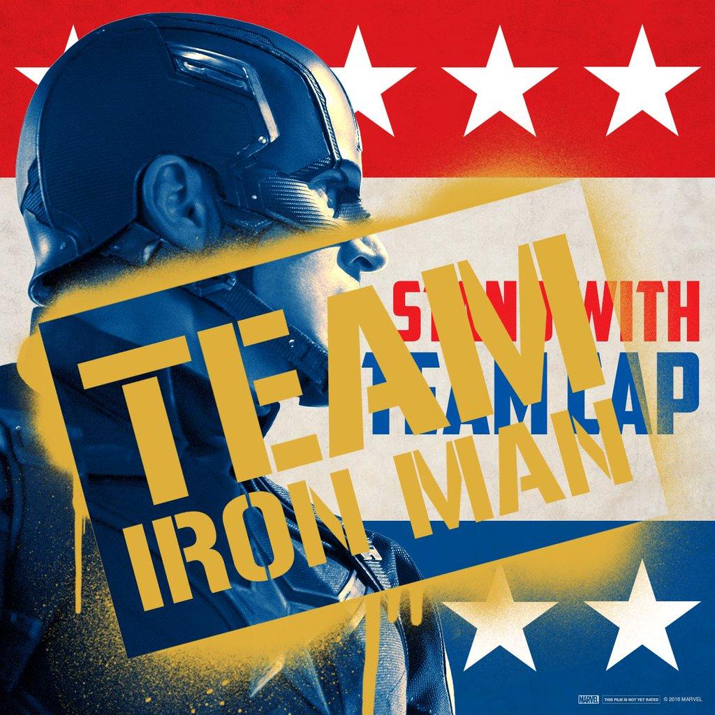 Captain America: Civil War - L'immagine per il team a favore di Iron Man