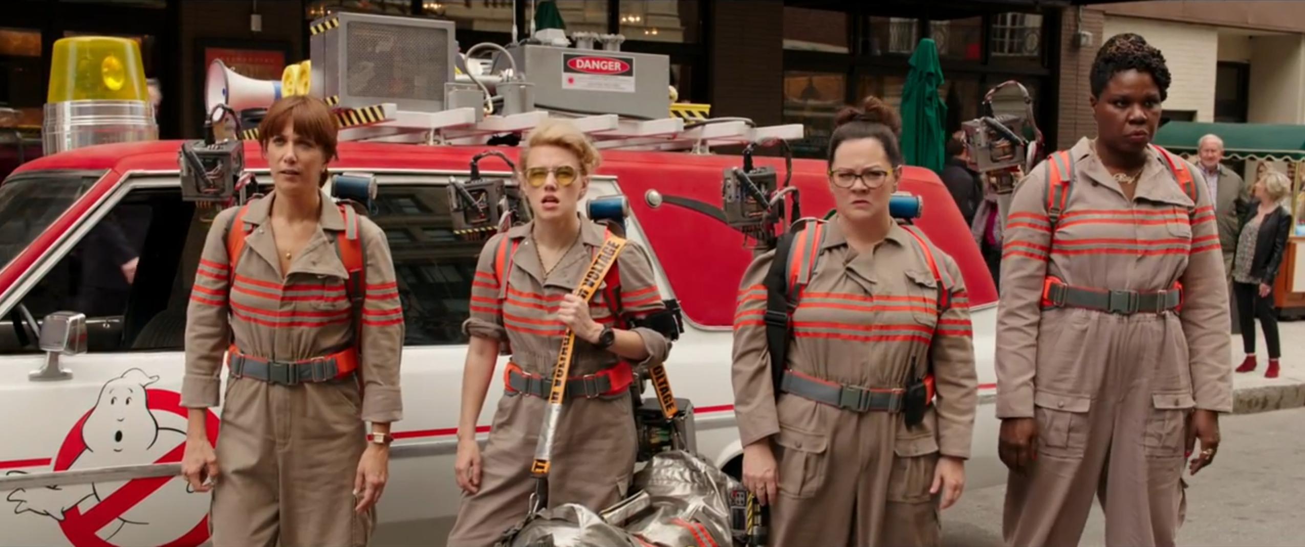 Ghostbusters: le quattro acchiappafantasmi nel primo trailer del reboot