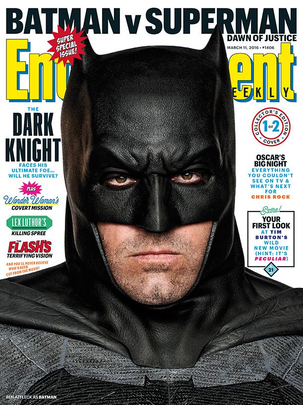 Batman v Superman: la copertina di Entertainment Weekly