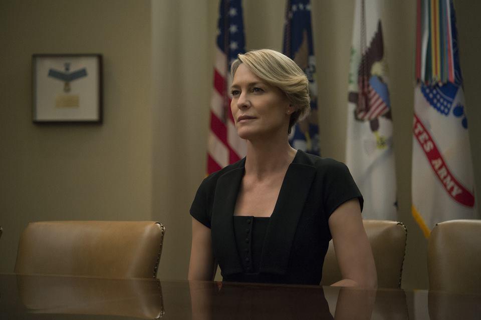House of Cards: l'attrice Robin Wright in una foto della quarta stagione