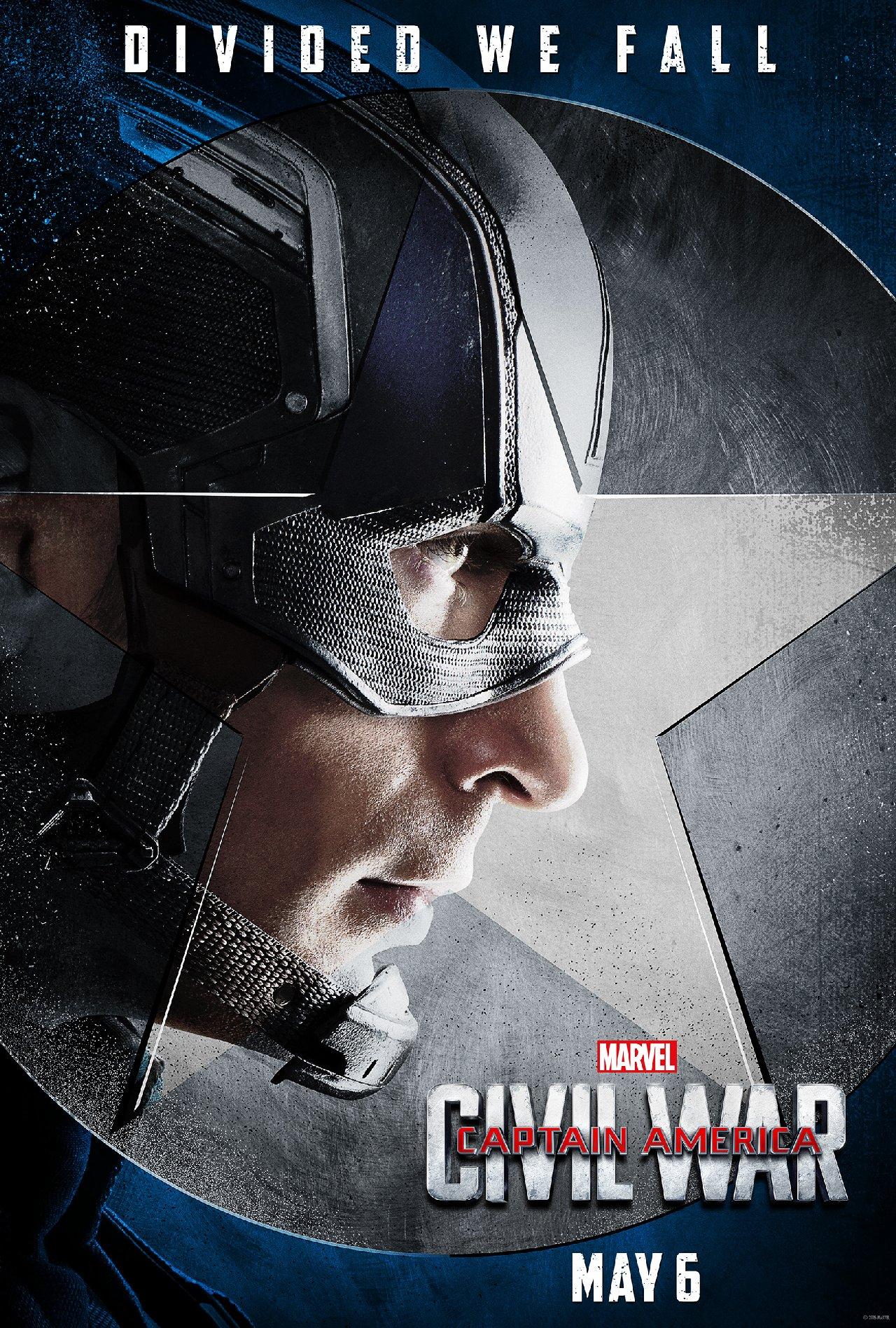 Captain America: Civil War - Il character poster di Chris Evans