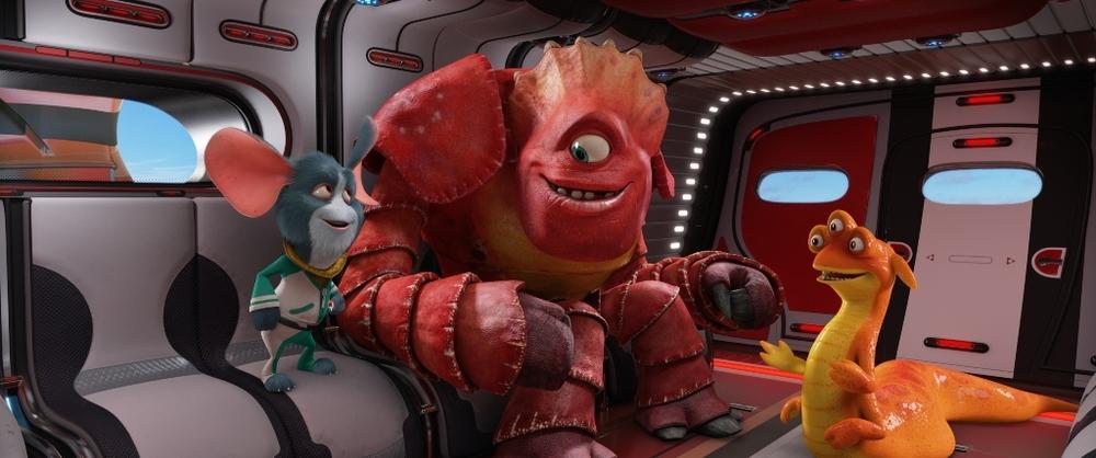 Fuga dal pianeta Terra: un'immagine tratta dal film animato