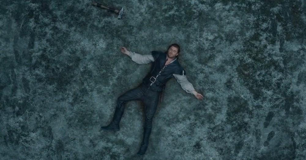 Il cacciatore e la regina di ghiaccio: Chris Hemsworth in una scena del film