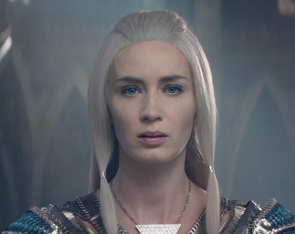 Il cacciatore e la regina di ghiaccio: un primo piano di Emily Blunt