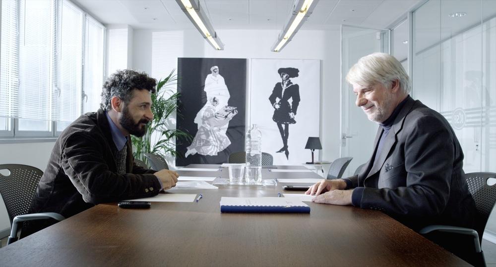 On Air - Storia di un successo: Ricky Tognazzi e Dario Tacconelli in una scena del film