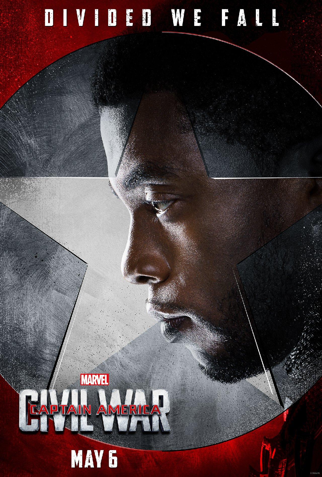 Captain America: Civil War - Il character poster di Black Panther