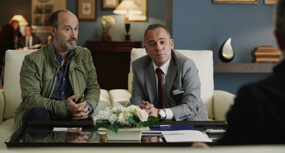 Truman: Javier Cámara e Javier Gutiérrez in una scena del film
