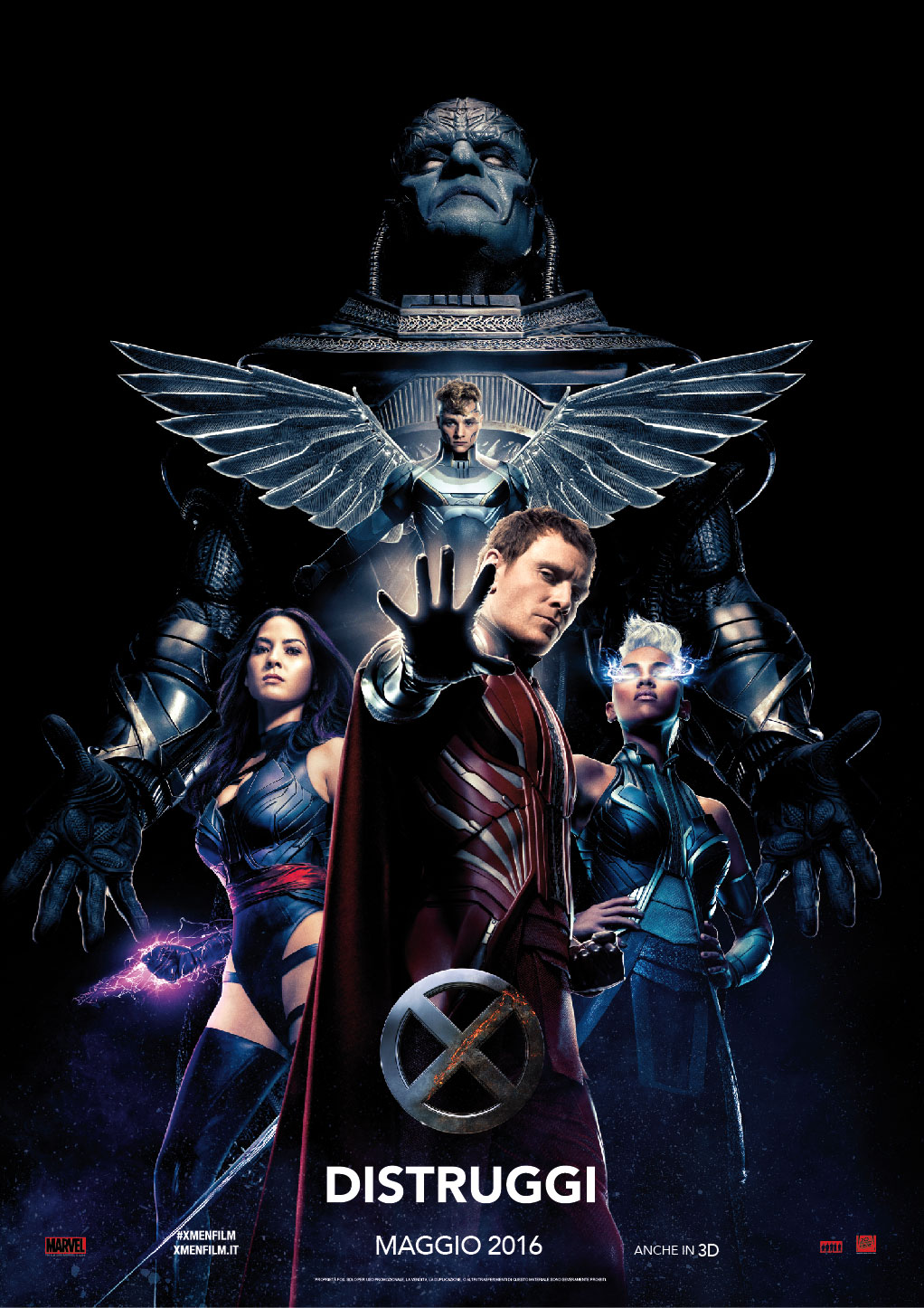 X-Men: Apocalypse: la locandina italiana dedicata ai villain