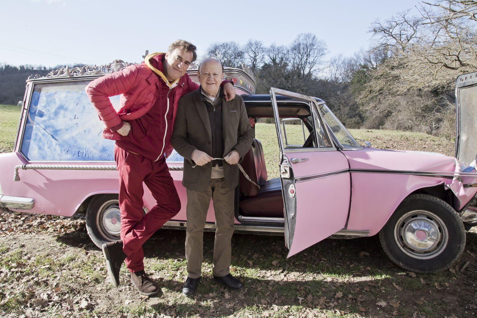 La coppia dei campioni: Max Tortora e Massimo Boldi in un'immagine promozionale del film