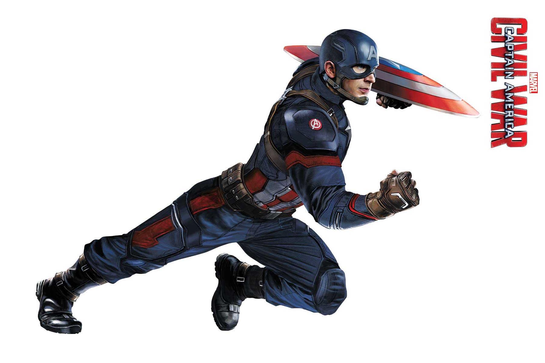 Captain America: Civil War - Un'immagine promozionale di Captain America