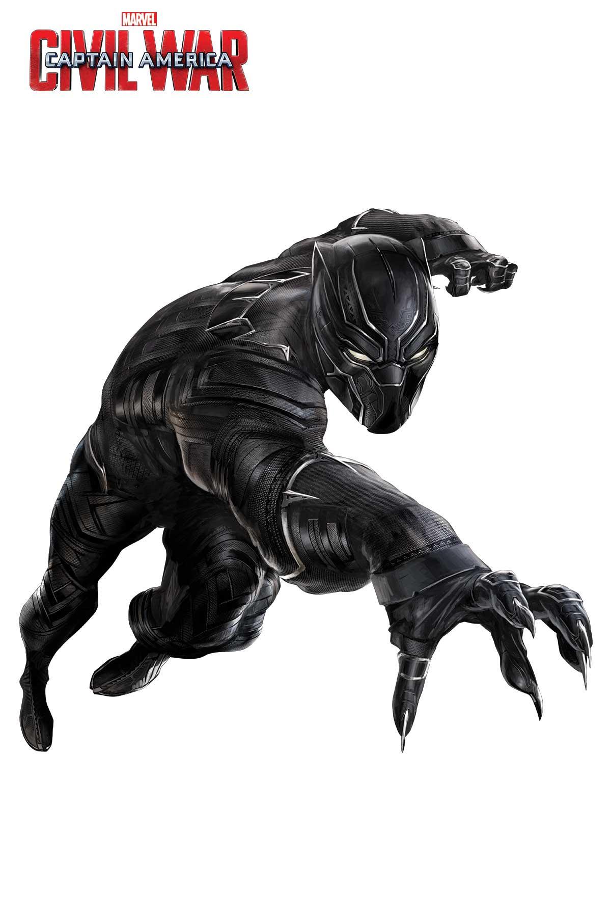 Captain America: Civil War - Un'immagine promozionale di Black Panther