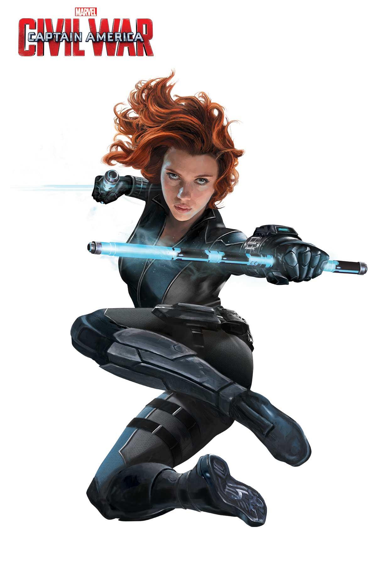 Captain America: Civil War - Una foto promozionale di Vedova Nera