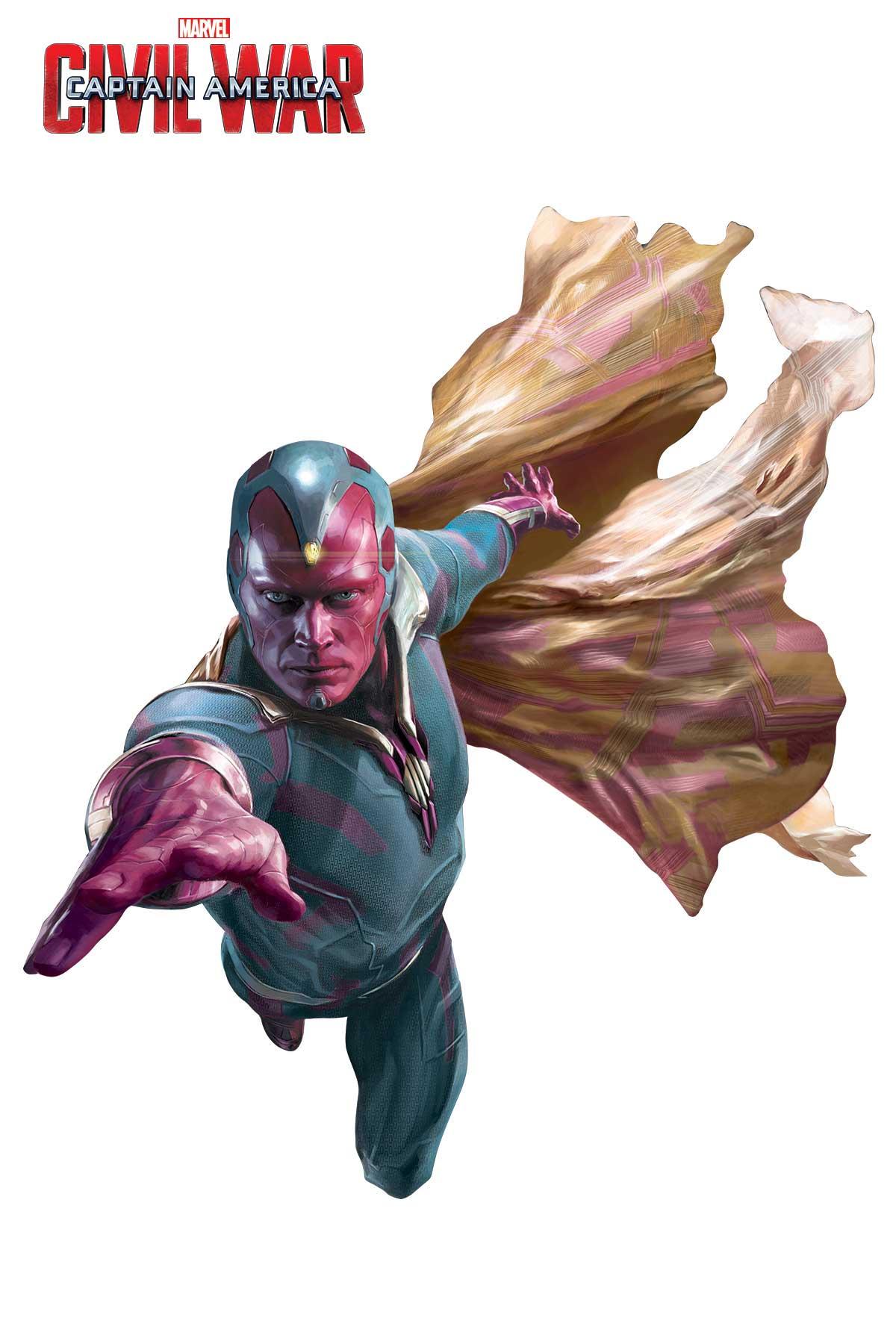 Captain America: Civil War - Un'immagine promozionale di Visione