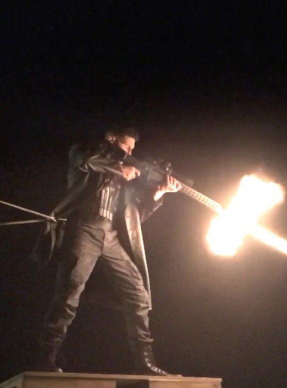 Daredevil: una foto di Jon Bernthal sul set