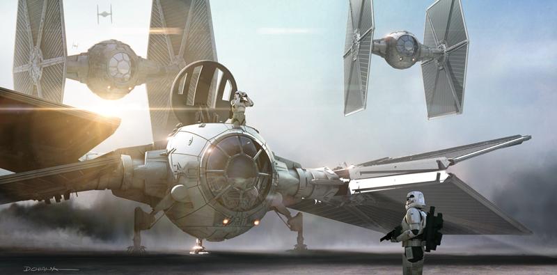 Star Wars: Il Risveglio della Foza - Un concept art del lungometraggio diretto da J.J. Abrams