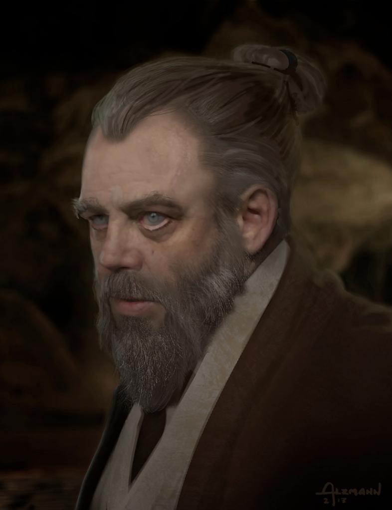 Star Wars: Il Risveglio della Foza - Un concept art di Luke Skywalker