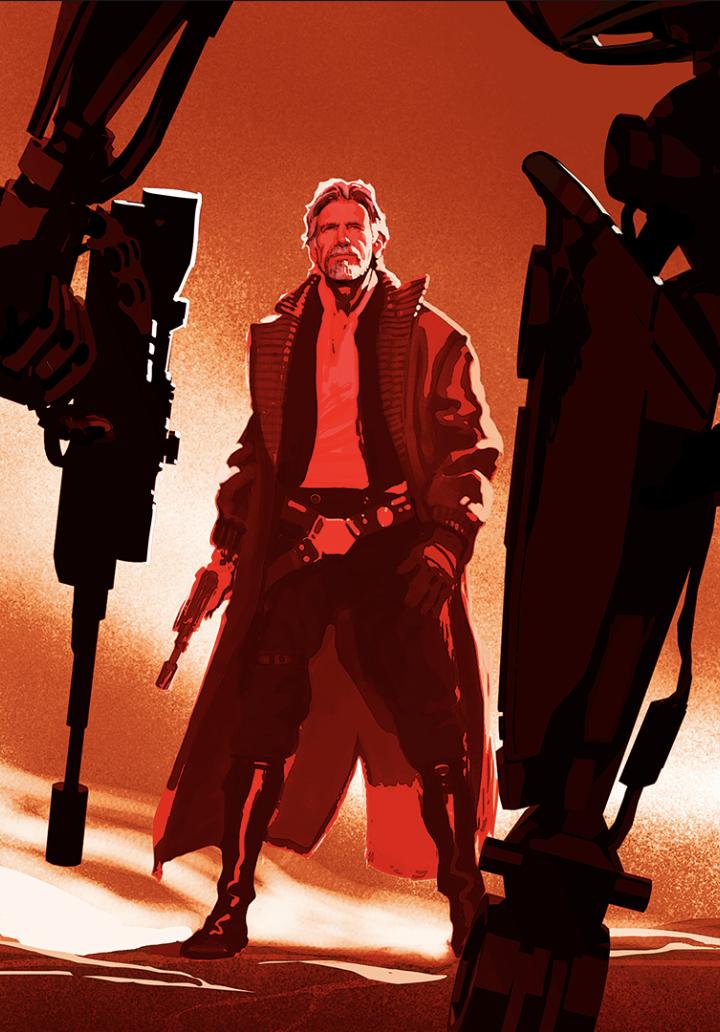 Star Wars: Il Risveglio della Foza - Un concept art di Han Solo