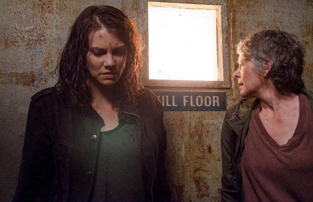 The Walking Dead: Melissa McBride e Lauren Cohan in una foto della puntata Nella stessa barca