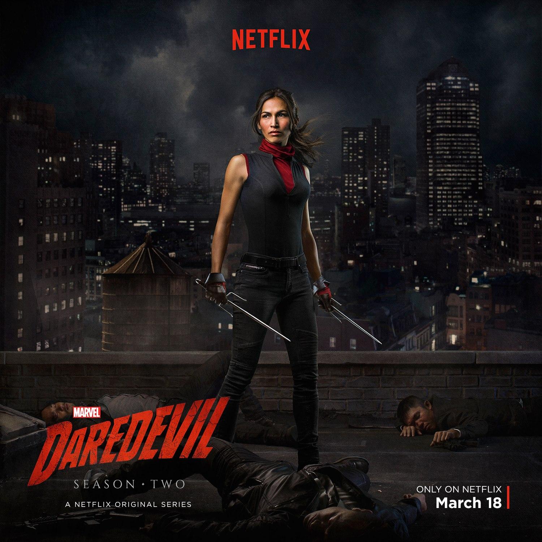 Daredevil: una foto promozionale di Elodie Yung nel ruolo di Elektra