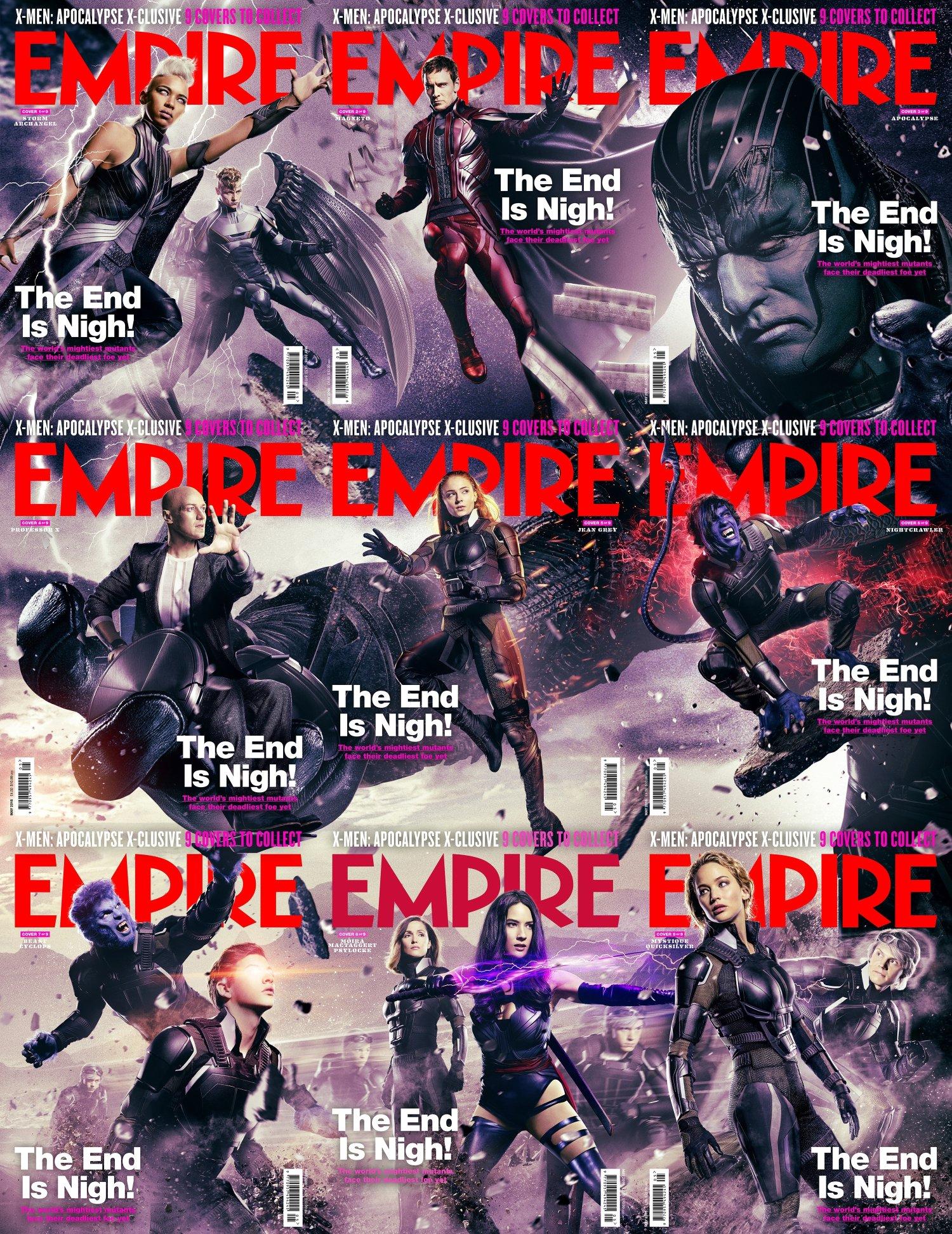 X-Men: Apocalisse - Tutte le copertine del magazine Empire