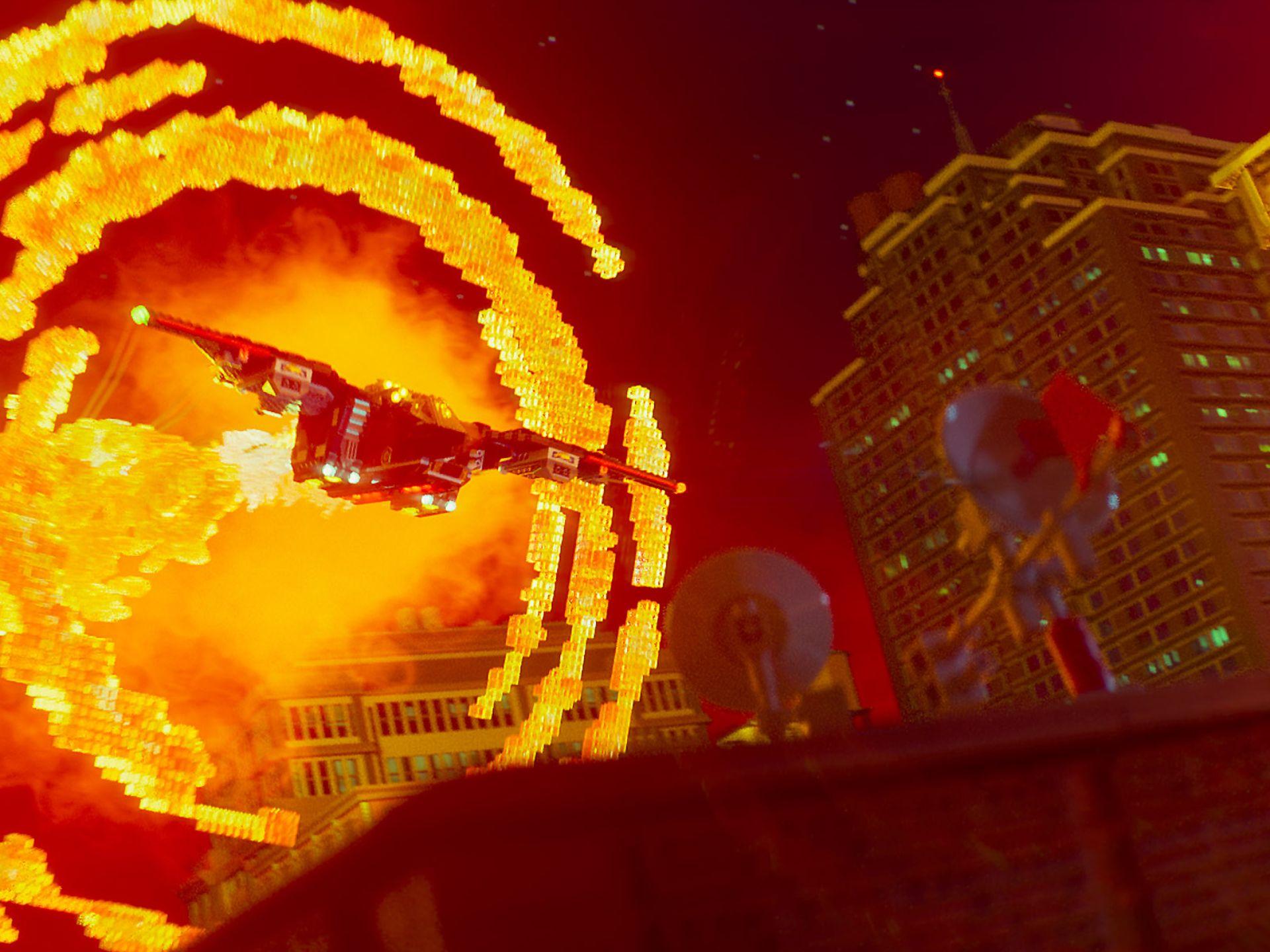 The Lego Batman Movie: una foto di una scena d'azione del film