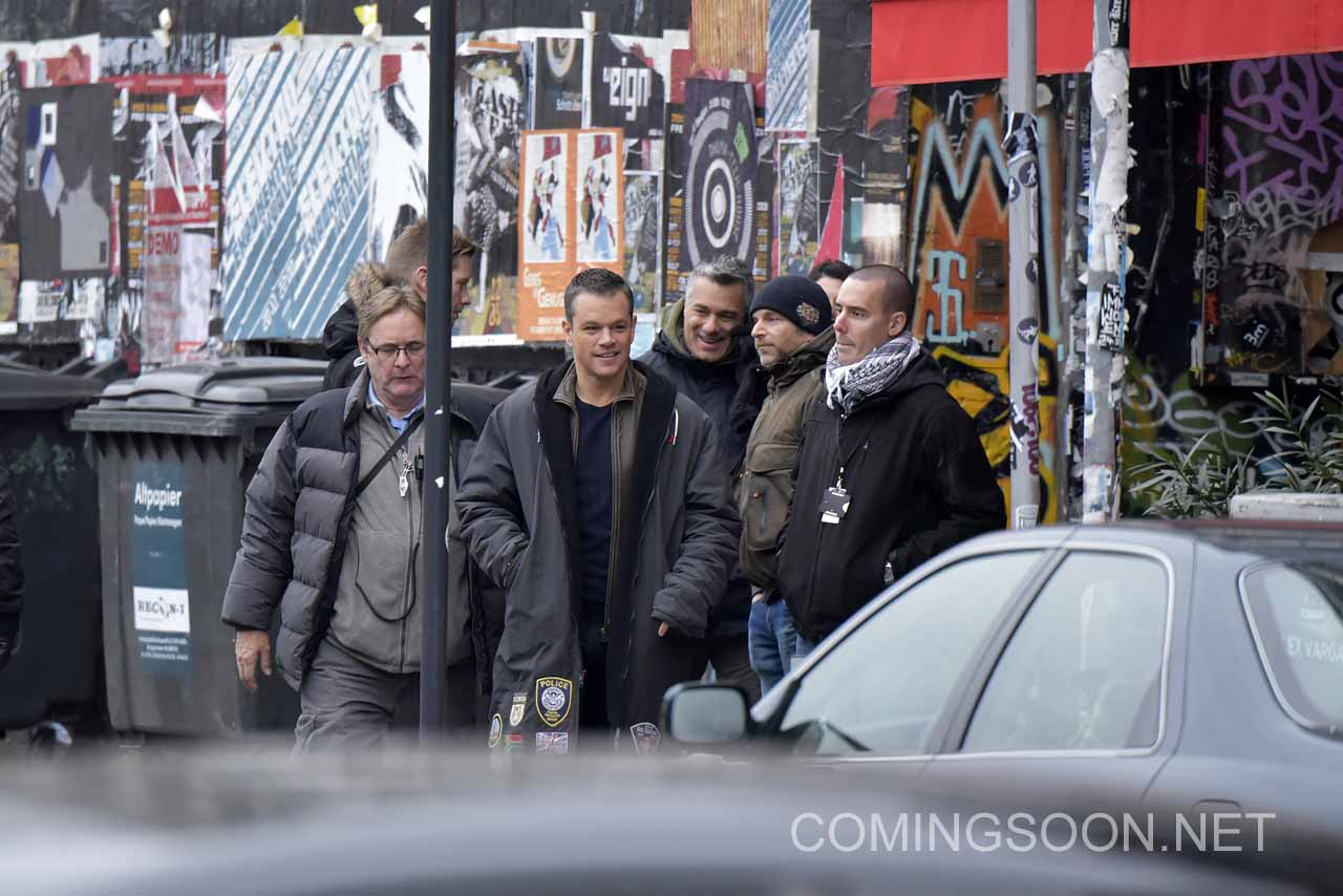Jason Bourne: Matt Damon sul set del film