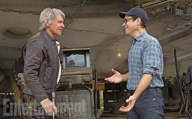 Star Wars: Il Risveglio della Forza - Harrison Ford e J.J. Abrams in una foto scattata sul set