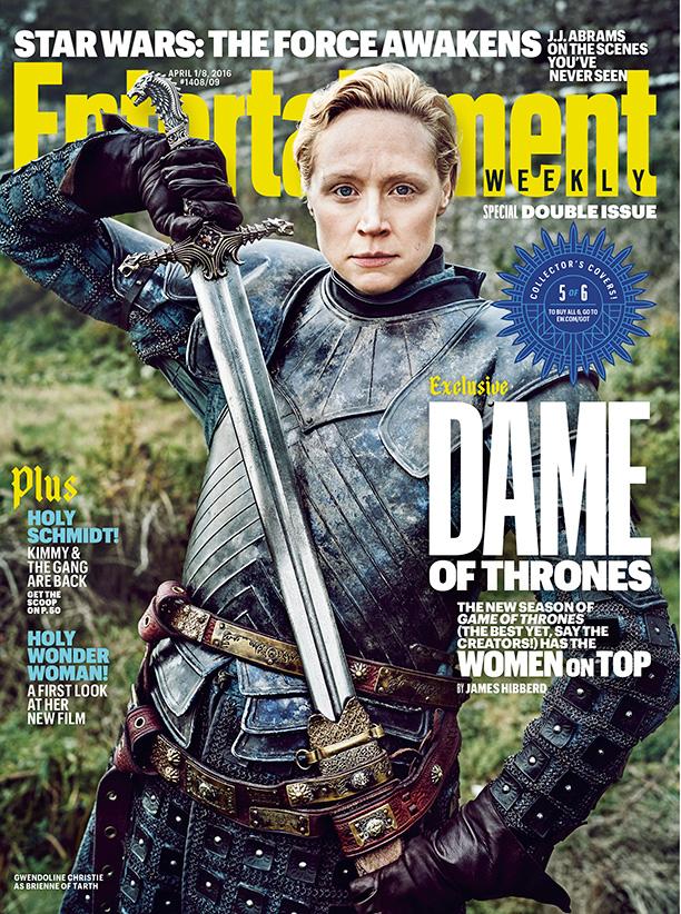 Il trono di Spade 6: Gwendoline Christie sulla cover di Entertainment Weekly