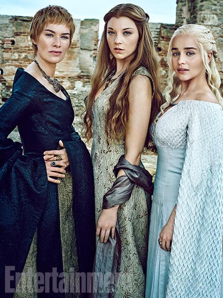 Il trono di spade: Lena Headey, Natalie Dormer ed Emilia Clarke in un ritratto realizzato per Entertainment Weekly