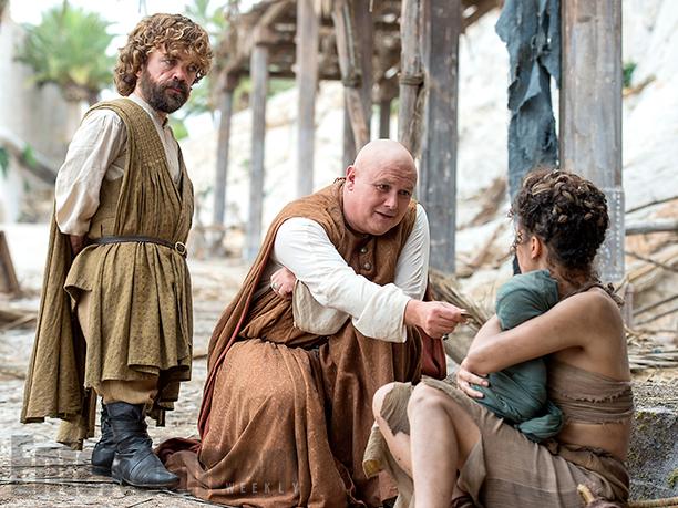 Il trono di spade: Peter Dinklage e Conleth Hill in una foto della sesta stagione