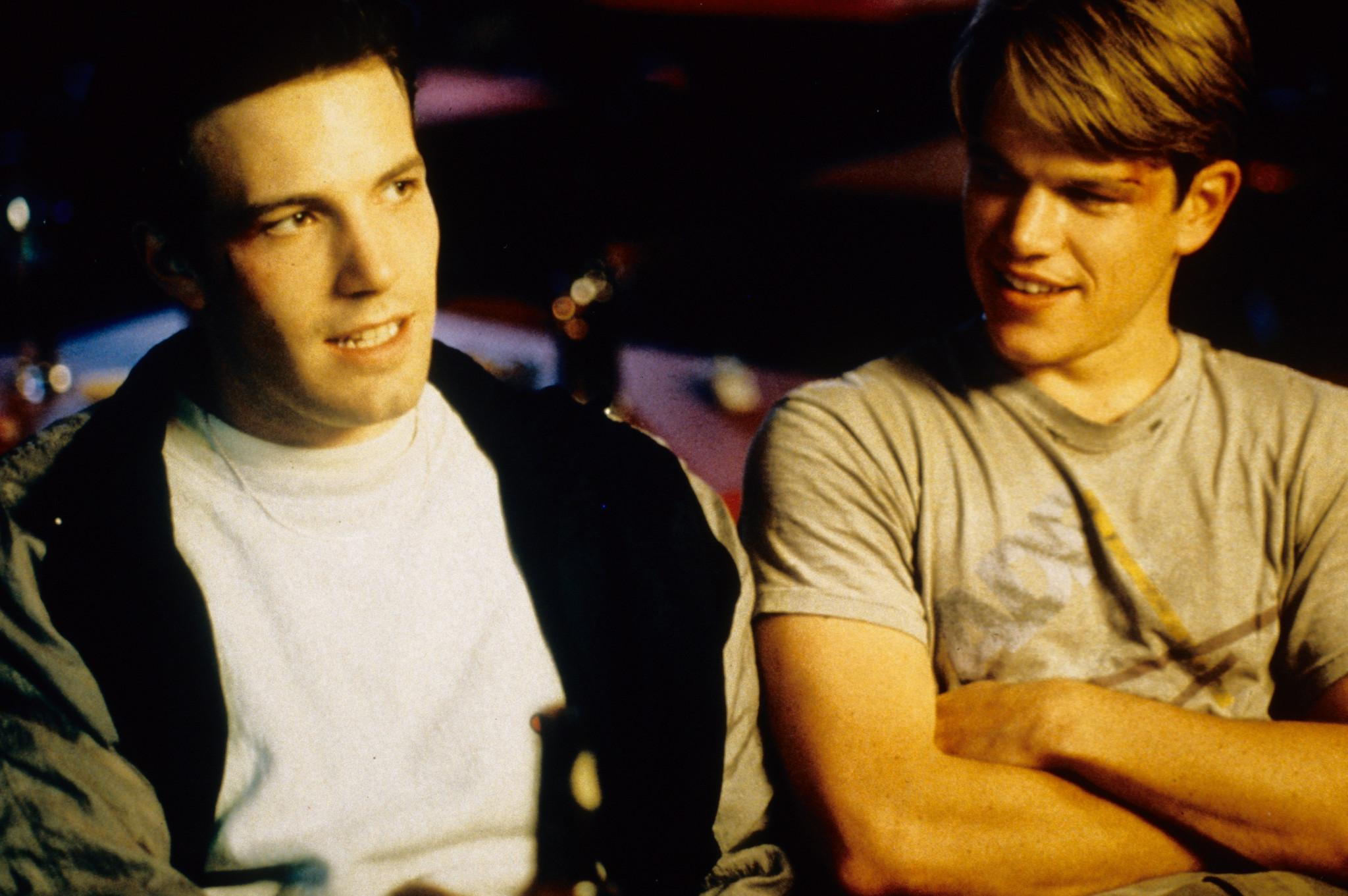 Will Hunting - Genio ribelle: Ben Affleck e Matt Damon in una scena