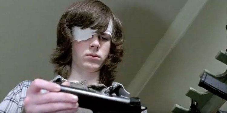 The Walking Dead, Chandler Riggs nell'episodio 6x15 Il cerchio