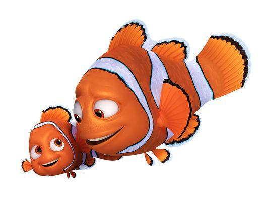 Alla ricerca di Dory: un'immagine di Marlin e Nemo