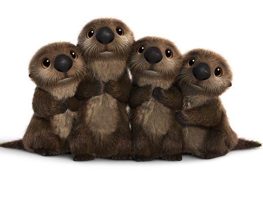 Alla ricerca di Dory: un gruppo di lontre di mare