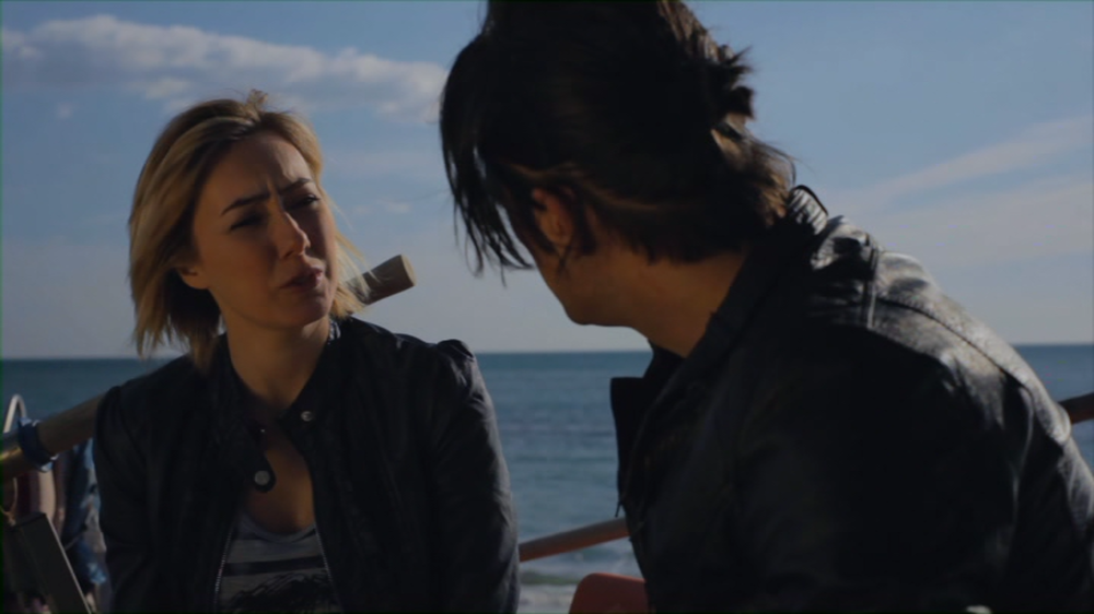 Con tutto l'amore che ho: Cristel Carrisi e Biagio D'Anelli in una scena del film