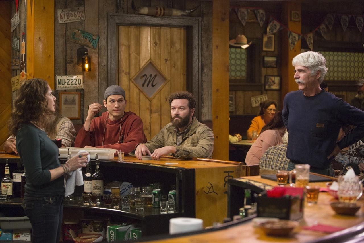 The Ranch: Debra Winger, Ashton Kutcher, Danny Masterson e Sam Elliott in una foto della serie