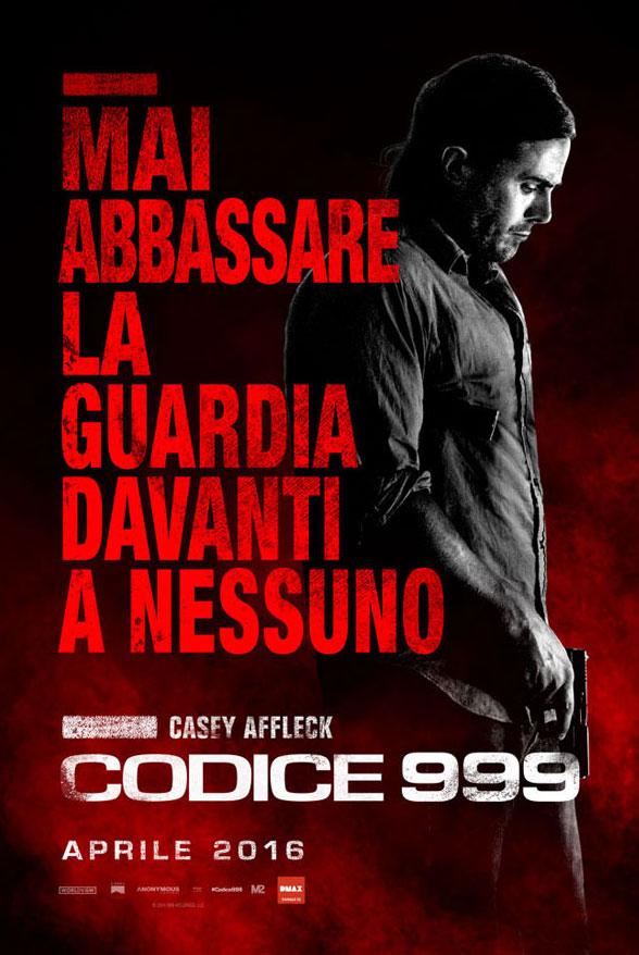 Codice 999: il character poster italiano di Casey Affleck
