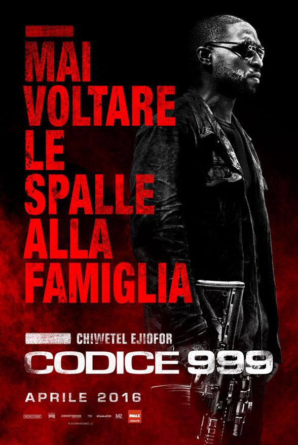 Codice 999: il character poster italiano di Chiwetel Ejiofor
