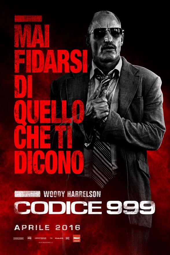 Codice 999: il character poster italiano di Woody Harrelson