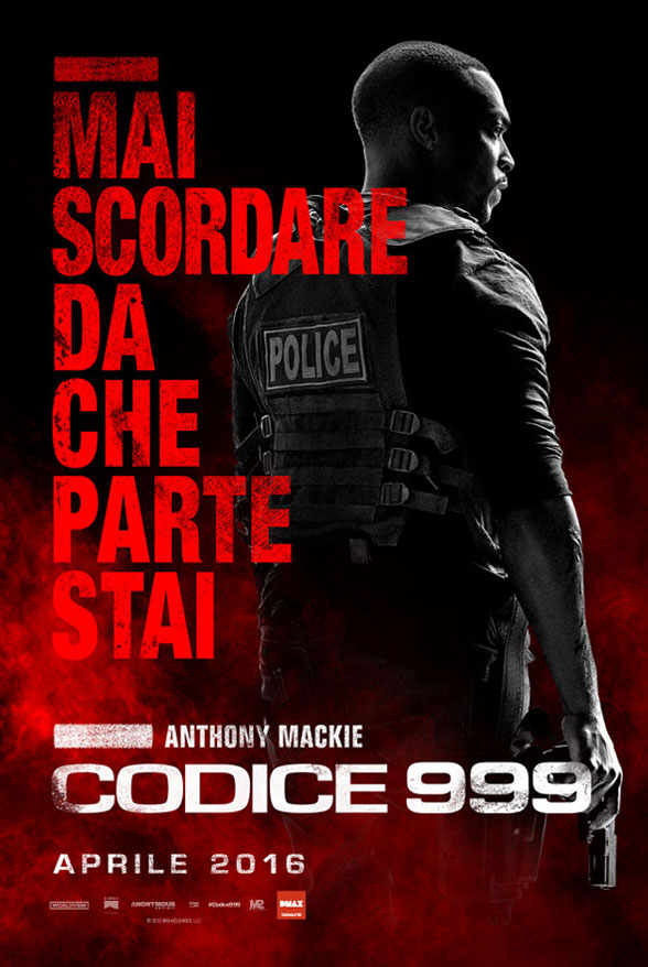 Codice 999: il character poster italiano di Anthony Mackie
