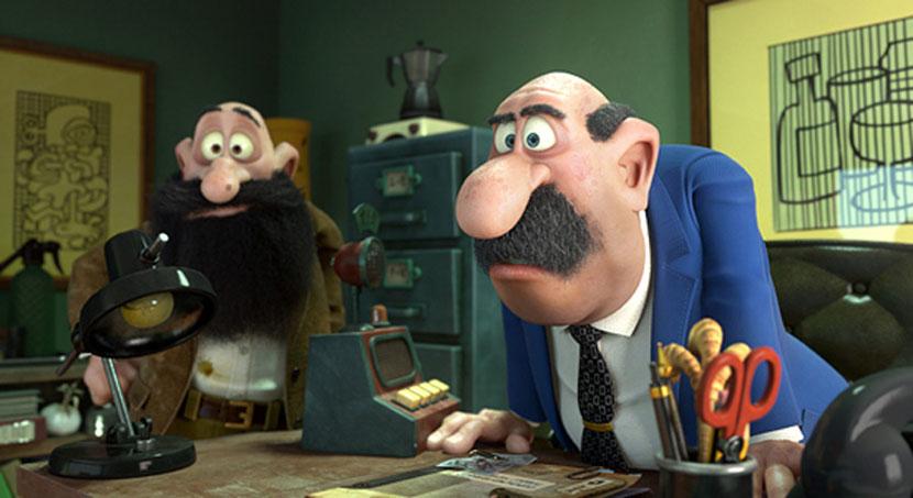 Mortadello e Polpetta contro Jimmy lo Sguercio: una scena del film animato