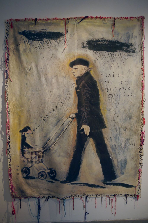 Mario Monicelli: una foto artistica del regista alla mostra a Viareggio