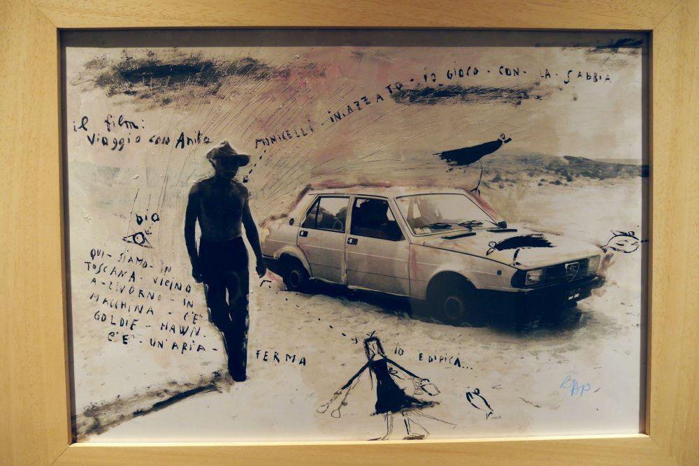 Mario Monicelli: un'immagine della mostra a Viareggio tratta da Viaggio con Anita