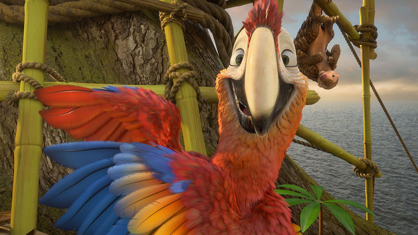 Robinson Crusoe: un'immagine tratta dal film animato