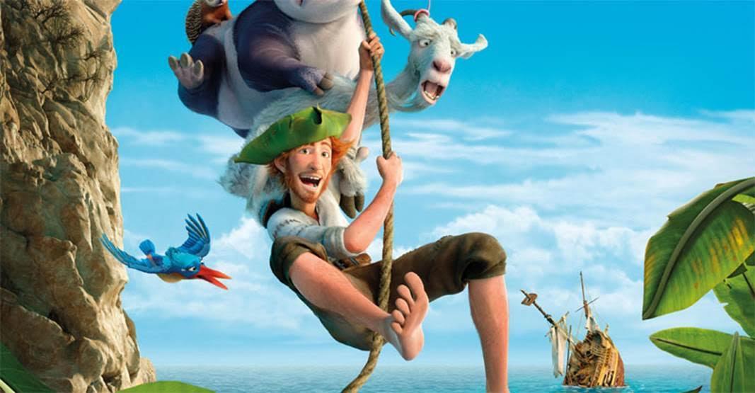 Robinson Crusoe: un momento del film animato